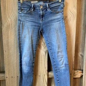 Adriano Goldschmied AG Crop Cigarette Skinny Jeans